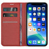 Leather Wallet Case & Card Holder Pouch for Apple iPhone 11 Pro Max - Red